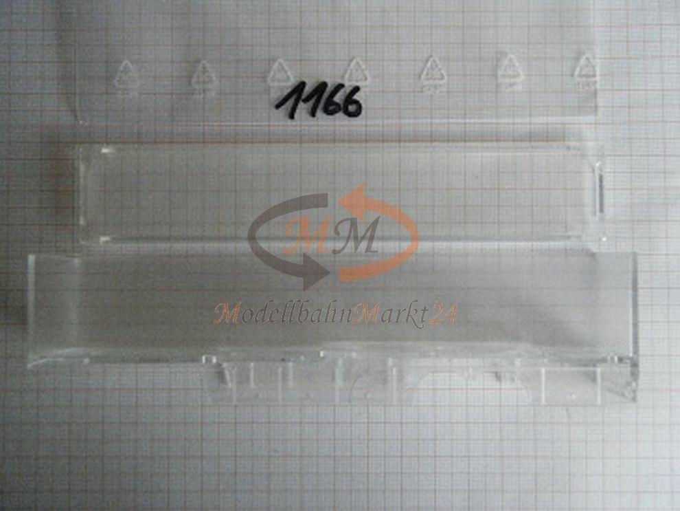 10x ALBEDO Ersatzteil Ladegut Verglasung gläserner Koffer mit Dach 1 87 - 1166