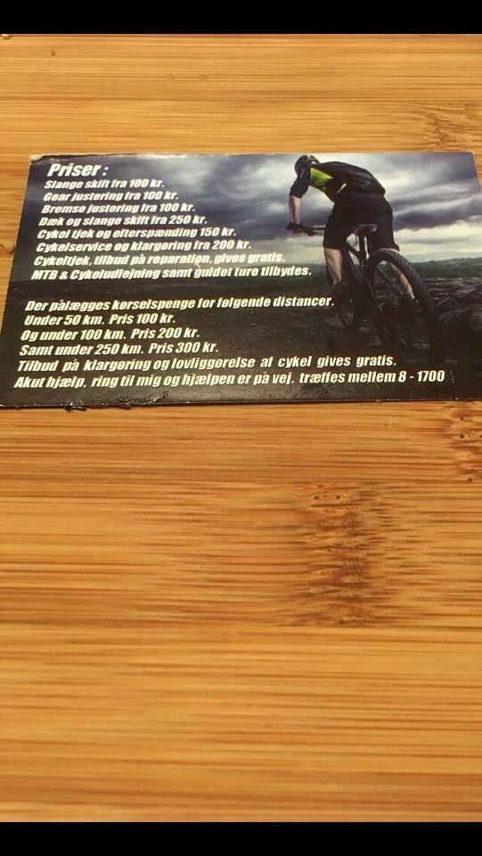 Cykelmekaniker, tiltrædelse Akut eller tilbud