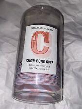 Williams Sonoma 20 Red And White Snow Cone Cups