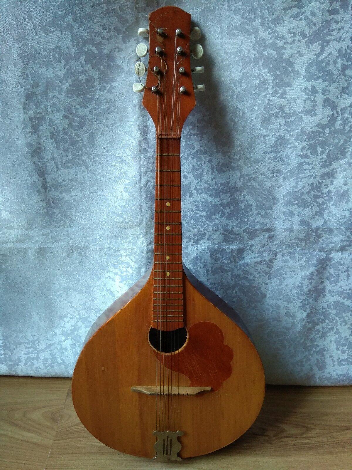 RARE Collectible Musical Instrument USSR Soviet 8 strings Vintage Domra MANDOLIN