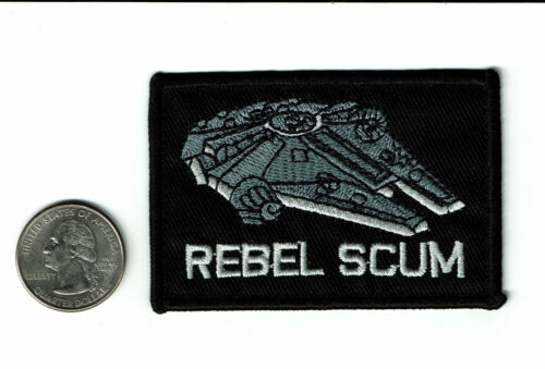 """2 X 3/"""" Star Wars Patch REBEL SCUM Millennium Falcon Embroidered Iron On patches"""