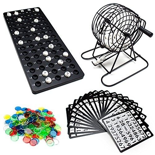Bingo Game Set Play Fun Games Home Classroom Plastic Balls Cage