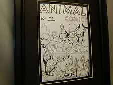 Animal Comics #4 Book Cover Artist Drawings Very Detailed Uncle Wiggily Garden
