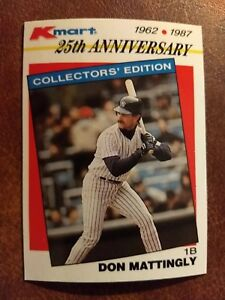 Details About 1987 Topps Kmart Stars Of The Decades Baseball Card 28 Don Mattingly