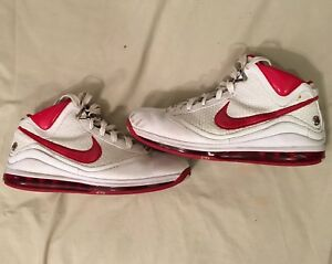 8bfc5c2206aa Nike Lebron 7 Nfw White Red Men s Basketball Shoes Size 12 Lbj ...