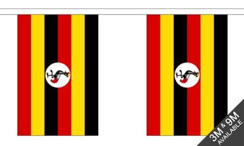 Uganda National Bunting 9 metres long 30 flags