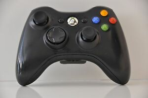 OEM-Official-Genuine-Microsoft-xbox-360-Wireless-Controller-Glossy-Black