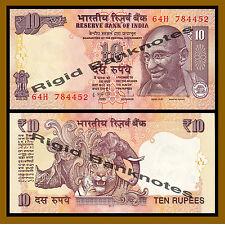 India 10 Rupees, 2011 P-102a New Rupee Symbol Unc