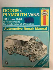 Haynes-Repair-Manual-Dodge-amp-Plymouth-Vans-1971-1996