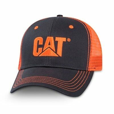 Caterpillar Orange Twill//Tan Mesh-CAT Hat