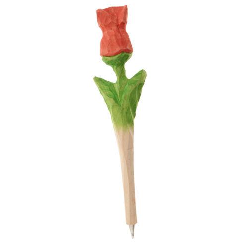 Cute Handmade Wooden Ballpoint Pen Lovely Rose Stationery Gift Multicolor