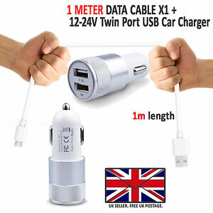 Dual-In-Car-Charger-With-USB-Type-C-Charging-Cable-For-Samsung-Galaxy-A70