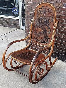Image Is Loading Victorian Antique German Griffin Coat Of Arms Bentwood