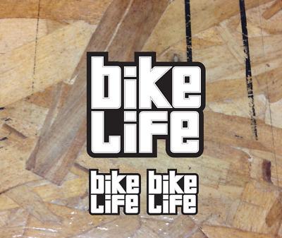 Bike Life Decal Script Sticker Pack Mtb Mtn Biker DH XC BMX Road CX 3 for 1
