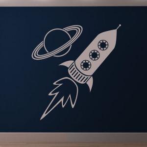 Infantil-Cohete-La-nave-y-Planeta-Pegatina-Pared-Arte-Dormitorio-AS10044