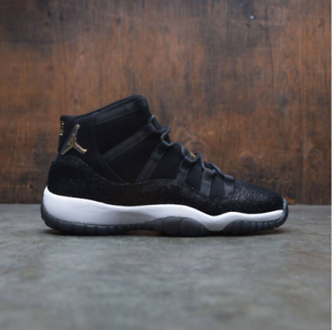 7b809265694 Nike Air Jordan 11 XI Retro PRM HC Heiress Black Gold Size 7y ...