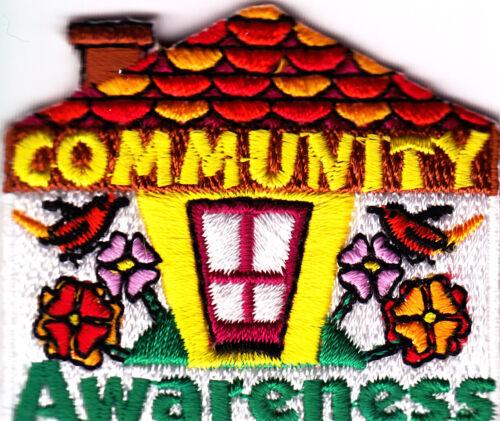Cub Boy Girl Scout Fun Badge Patch ~ Community Awareness