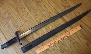 Bayonet Vintage WWI Era with antique scabbard sheath CE WG HH851 B849