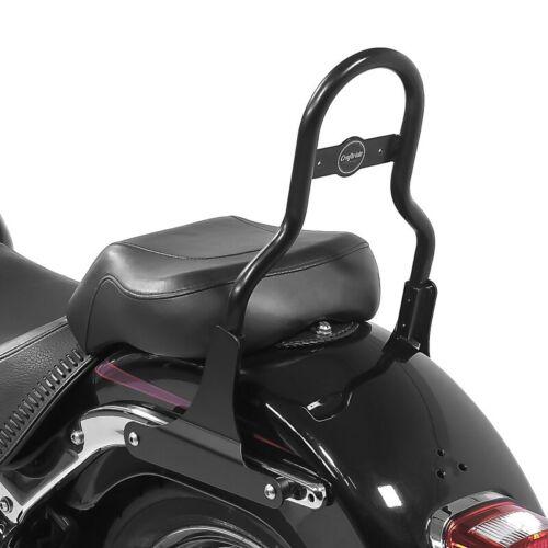 Sissy bar CL Fix for Harley Fat Boy 07-17 with luggage rack black