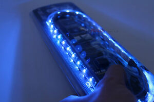 "20"" Blue UltraBrights LED Flexible 12V Car Headlight Waterproof Light Strip"