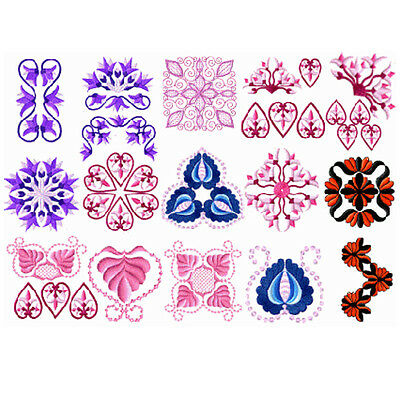 """ABC Designs Redwork Floral Machine Embroidery Designs Set for 4/""""x4/"""" Hoop"""