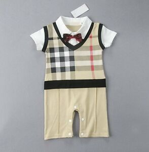 cc09bdb39696 Baby Boy Wedding Tuxedo Formal Dressy Checked Suit OnePiece Outfit ...