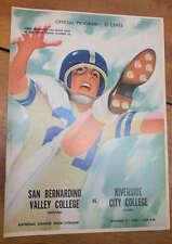 San Bernardino Valley vs Riverside City Football 1960 Vintage Program J61860