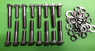 Ford V8 Mustang 3//8 Mixed Length Hexagon EXHAUST Header Bolts Kit 1964 to 1973