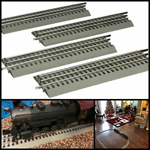 Pack-Of-4-O-Gauge-Straight-Track-For-Lionel-FasTrack-Train-Hobby-Collection-10in