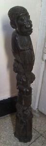 ALBERO-FAMIGLIARE-SCULTURA-AFRICANA-D-039-EPOCA-in-legno