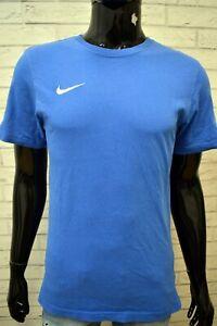 Maglia-Blu-Uomo-NIKE-Taglia-S-Polo-Maglietta-Manica-Corta-Shirt-Man-Herrenhemd