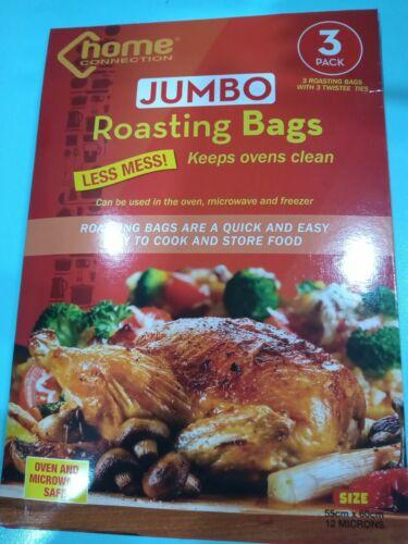 beef etc Large 55x60cm oven /& microwave 3 Jumbo Roasting Bags Turkey chicken