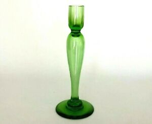 Vintage-Vaseline-Depression-Glass-Candle-Stick-Holder-Martha-Stewart-Owned