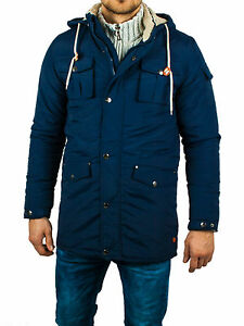 new arrival c2cdb 2cab1 Details zu Herren Winter Kapuzen Jacke blau Parka Bomberjacke Vintage  Mantel Jacket Fell XL