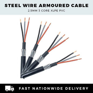 Swa cable per meter 3 core swa cable 3 core ebay for Precio cable 2 5mm