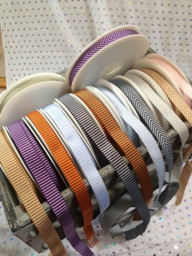 12mm Vintage A Rayas ** ** cinta tejido texturado 6 Tonos /& varias longitudes