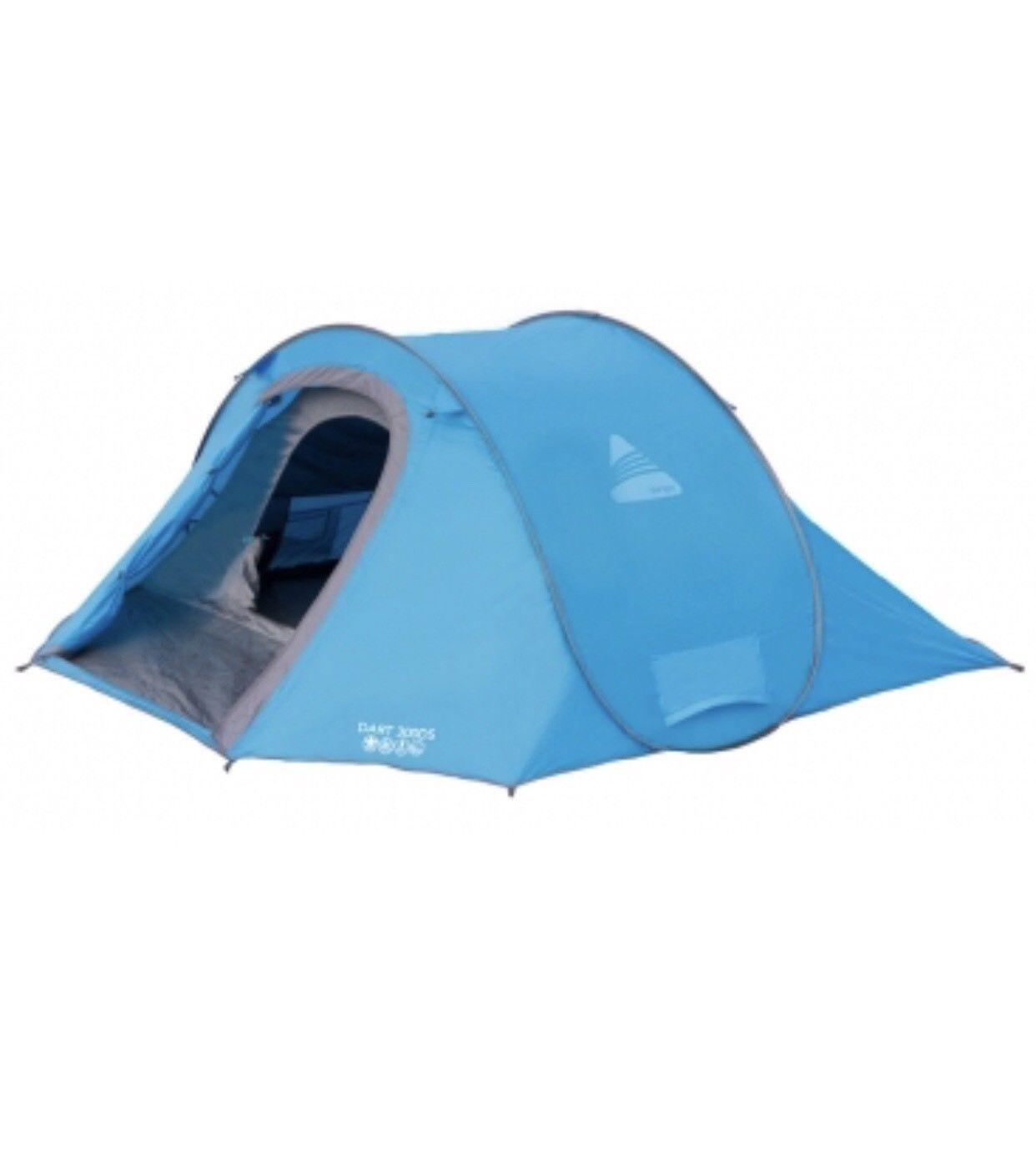Vango DS300 Outdoor PopUp Tenda 3 persone Uomo spazioso veloce veloce Pitch Campeggio