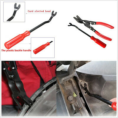 2In1 Car SUV Door Card Panel Trim Clip Removal Upholstery Remove Pry Handle Tool