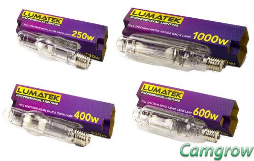 240 V Halogénure Métallique-Veg Ampoule hydroponique 250 W 1000 W 600 W 400 W Lumatek