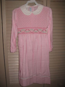 Girls-Smocked-Dress-Geometric-4-5-6-6x-CAROLINE-PINK-Classic-NWT-Vive-La-Fete