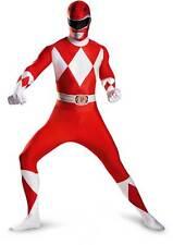 Licensed Sabans Mighty Morphin Red Power Ranger Bodysuit Adult Men Costume