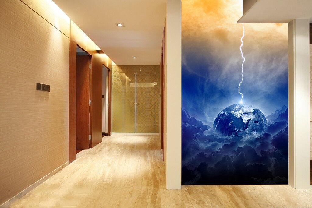 3D Lightning 467 Wallpaper Murals Wall Print Wall Mural AJ WALL AU Lemon