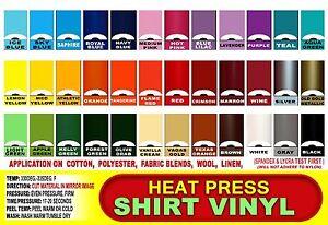 20 sheets 12x12 Heat Press thermal transfer vinyl, T- Shirt, Cutters or Die Cut
