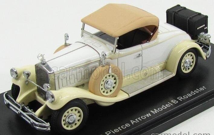 1 43 Esval Modelo Pierce Arrow Modelo B Roadster Cerrado 1930 Beige blancoo