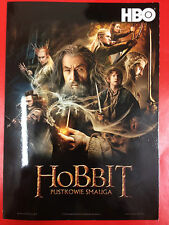Ian McKellen Orlando Bloom Luke Evans - HOBBIT - HBO Polish promo FLYER