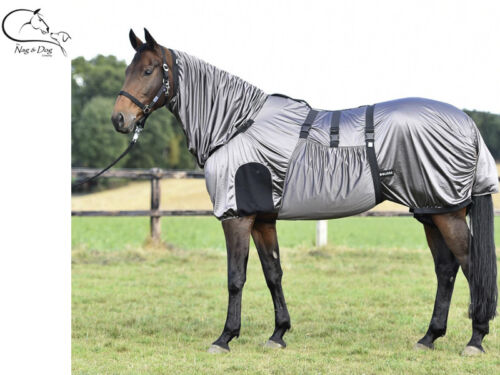 Busse Sweet Itch Fly Rug UV cheval protéger VENTRE PLEIN cou eczéma Feuille Plus Masque
