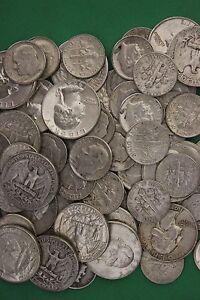 MAKE OFFER 1 Standard Ounce 90/% Junk Silver Roosevelt Dimes Washington Quarters