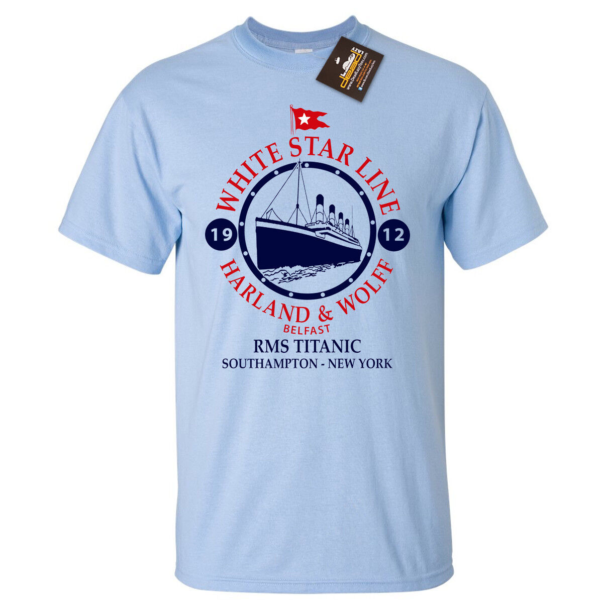 e76a21bd White Star Line Titanic Inspired T Shirt Classic Film Boat Ship Sailing Tee  Funny Unisex Casual Quirky T Shirt Awesome T Shirts For Sale From ...