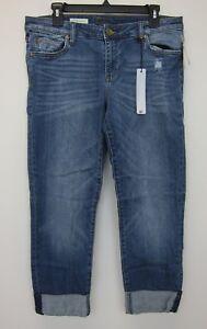Kut-From-The-Kloth-Women-039-s-Catherine-Boyfriend-Jeans-10-Petite-Medium-Wash-NWT