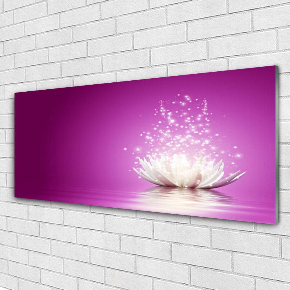 Acrylglasbilder Wandbilder aus Plexiglas® 125x50 Lotos Blaume Pflanzen